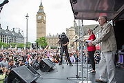 Jeremy Corbyn MP speaking at the People's Assembly Against Austerity 'End Austerity Now' demonstration attended by over 250,000 people on Saturday 20th of June 2015 sending a clear message to the Tory government; demanding an alternative to austerity and to policies that only benefit those at the top. London, UK.