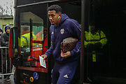 Cardiff City forward Nathaniel Mendez-Laing (19) arrives ahead of the Premier League match between Watford and Cardiff City at Vicarage Road, Watford, England on 15 December 2018.
