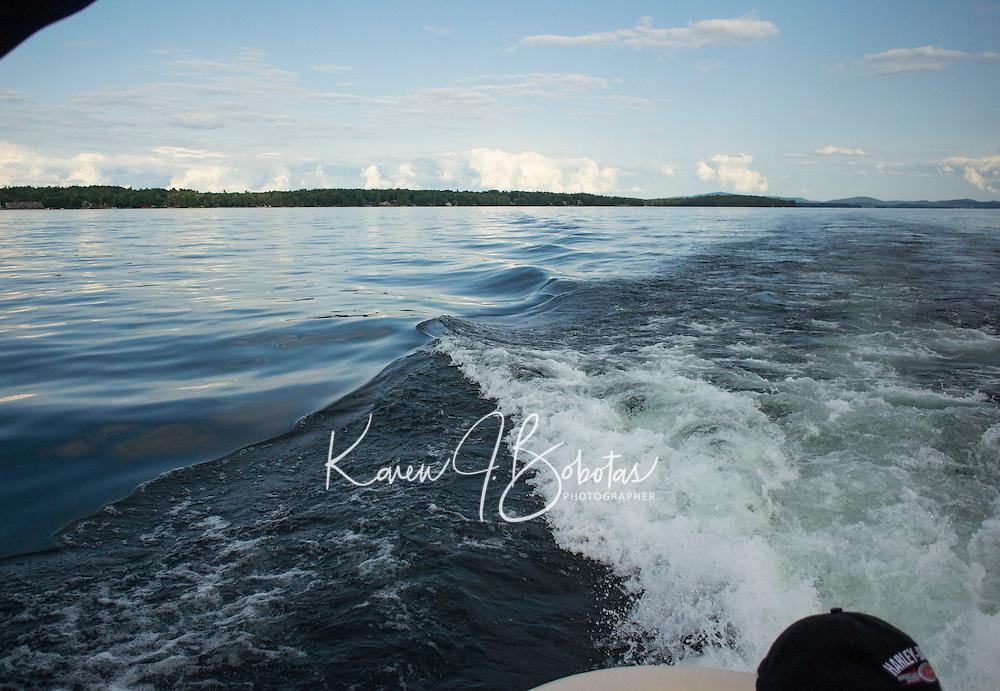 Day on Lake Winnipesaukee with Hike up Rattlesnake Island and Cookout at Bear Island followed by sunset cruise.  ©2014 Karen Bobotas Photographer
