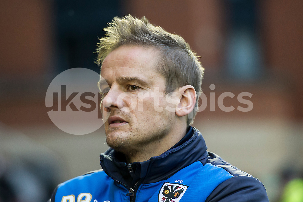 Neal Ardley manager of Wimbledon during the Sky Bet League 2 match between Leyton Orient and AFC Wimbledon at the Matchroom Stadium, London, England on 28 November 2015. Photo by Salvio Calabrese.