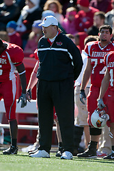 14 October 2006: Coach Denver Johnson.&#xD;The 6th largest crowd at Hancock Stadium came to watch a game that put 8th ranked Southern Illinois Salukis against 5th ranked Illinois State University Redbirds.  The Redbirds stole the show for a Homecoming win by a score of 37 - 10. Competition commenced at Hancock Stadium on the campus of Illinois State University in Normal Illinois.<br />