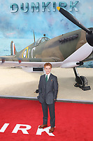 Tom Glynn-Carney, Dunkirk - World film premiere, Leicester Square Gardens, London UK, 13 July 2017, Allied soldiers from Belgium, the British Empire, Canada, and France are surrounded by the German army and evacuated during a fierce battle in World War II.
