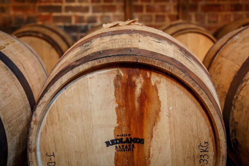 Barrels in the bond store at Redlands Estate Distillery in Plenty, Tasmania, August 25, 2015. Gary He/DRAMBOX MEDIA LIBRARY