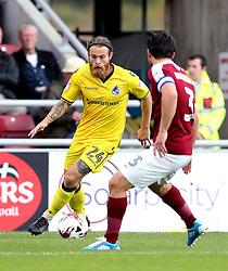 Stuart Sinclair of Bristol Rovers takes on David Buchanan of Northampton Town - Mandatory by-line: Robbie Stephenson/JMP - 01/10/2016 - FOOTBALL - Sixfields Stadium - Northampton, England - Northampton Town v Bristol Rovers - Sky Bet League One