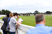 Ethics Approval ridden by Kieran Shoemark trained by C Hills, Robert Guiscard ridden by Harry Bentley trained by M Johnston, Barking Mad ridden by Oisin Murphy trained by P D Evans, Silver Cliffs ridden by Hector Crouch trained by G L Moore, Alfies Watch ridden by L Morris trained by J G M O'Shea, Miraz ridden by S M Levey trained by R Hannon, Some Picture ridden by Tom Marquand trained by Mick Channon, Game Over ridden by Rossa Ryan trained by R Hannon in the bath.co.uk Handicap - Mandatory by-line: Robbie Stephenson/JMP - 06/08/2020 - HORSE RACING - Bath Racecourse - Bath, England - Bath Races