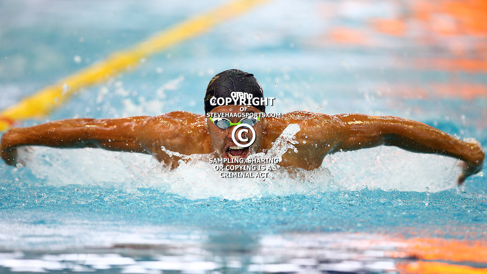 Durban South Africa - December Friday 18, Chad Le Clos SGUL-ETI KZNA-KZ Men 200 LC Meter Butterfly during the 2015 KZN Premier Championships.<br />