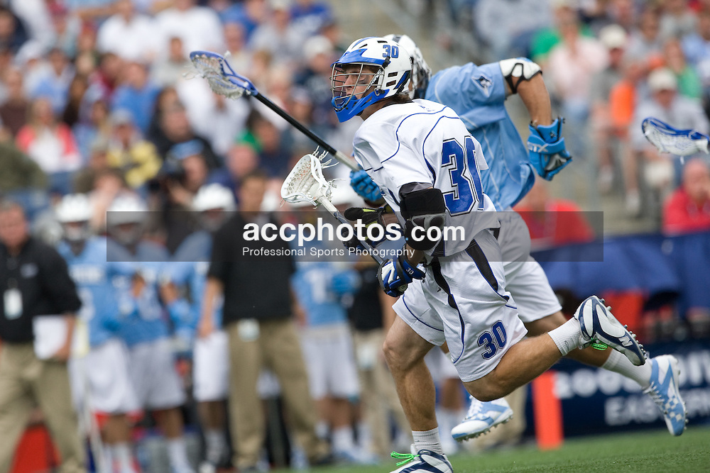 24 May 2008: Duke Blue Devils midfielder Terrence Molinari (30) during a 9-10 loss to the Johns Hopkins Blue Jays at Gillette Stadium during the NCAA Semifinals in Foxborough, MA.