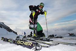 07.10.2014, Moelltaler Gletscher, Flattach, AUT, OeSV Medientag, im Bild Reinfried Herbst (AUT) // Austrian Skiracer Reinfried Herbst during the media day of Austria Ski Federation OSV at Moelltaler glacier in Flattach, Austria on 2014/10/07. EXPA Pictures © 2014, PhotoCredit: EXPA/ Johann Groder