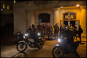 BIKERS LEAVING THE ICA, Private view, Paul Simonon- Wot no Bike, ICA Nash and Brandon Rooms, London. 20 January 2015