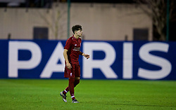 SAINT-GERMAIN-EN-LAYE, FRANCE - Wednesday, November 28, 2018: Liverpool's Neco Williams during the UEFA Youth League Group C match between Paris Saint-Germain Under-19's and Liverpool FC Under-19's at Stade Georges-Lefèvre. (Pic by David Rawcliffe/Propaganda)