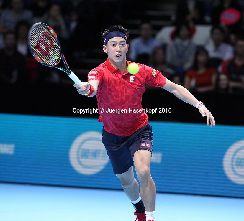 KEI NISHIKORI (JPN), ATP World Tour Finals, O2 Arena, London, England.<br /> <br /> Tennis - ATP World Tour Finals 2016 - ATP -  O2 Arena - London -  - Great Britain  - 14 November 2016. <br /> &copy; Juergen Hasenkopf/Grieves