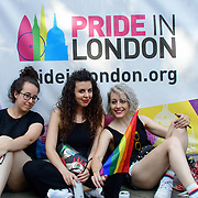 London, England, UK. 7th July 2018. Thousands attend the Pride parade in Trafalgar Square, London, UK on 7th July 2018