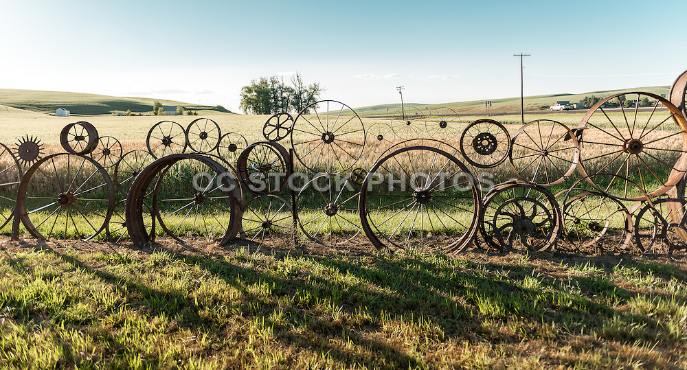 Iron Wheel Fence in Uniontown Washington
