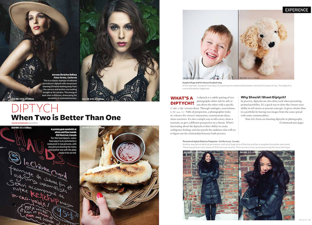 Diptychs When two is better than one - Photo You Magazine, Singapore - Spring 2012 | Photos and words by David Giral