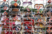 A sunglass stall at one of the wettest Glastonbury festivals ever - 2005.