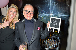 TOUKER SULEYMAN and SINCLAIR SELLARS at a party to celebrate the new partnership of Maids to Measure with Touker Suleyman held in The Winter Marquee, Home House, 20 Portman Square, London on 2nd March 2016.