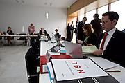 Wiesbaden | 11 May 2015<br /> <br /> NSU Untersuchungsausschuss Hessischer Landtag, 20. Sitzungstag, hier: Akten mit dem Aufdruck &quot;NSU&quot; auf den Pl&auml;tzen der SPD-Abgeordneten.<br /> <br /> &copy;peter-juelich.com<br /> <br /> [Foto honorarpflichtig | Fees Apply | No Model Release | No Property Release]