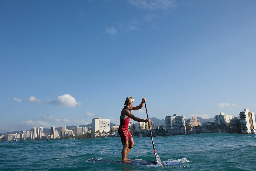 Tropical Blends, 2011 SUP with Davide in Waikiki