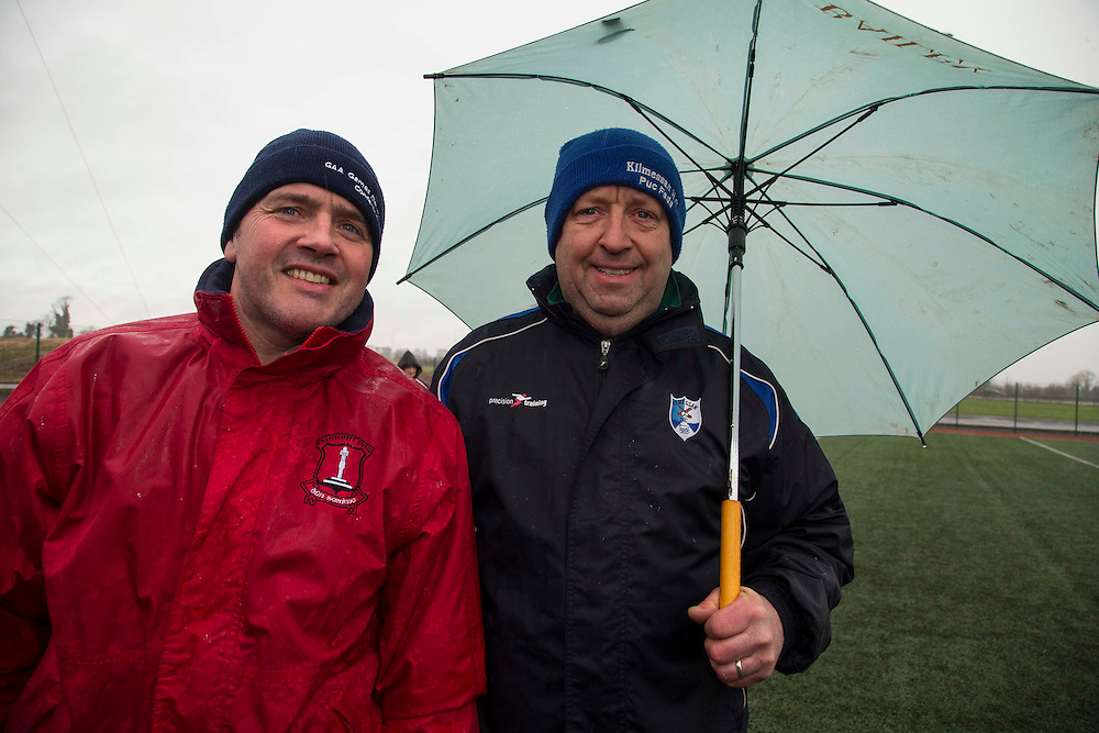 Hurling Coaching Conference at Meath Centre of Excellence, Dunganny, 20th February 2016<br /> Pictured at the Hurling Coaching Conference, L-R, Jimmy Maguire & Paddy Horan (Both Kilmessan)<br /> Photo: David Mullen /www.cyberimages.net / 2016