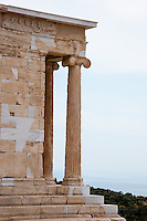 Greece, Athens. The Propylaea is the entrance to the Acropolis.