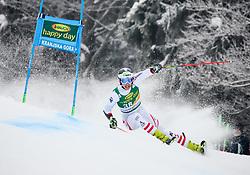 Dominik Raschner of Austria competes during 1st run of Men's GiantSlalom race of FIS Alpine Ski World Cup 57th Vitranc Cup 2018, on March 3, 2018 in Kranjska Gora, Slovenia. Photo by Ziga Zupan / Sportida