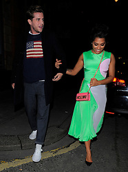 Vanessa White and boyfriend Gary Salter attend Browns Focus & Coca-Cola London Fashion week Party during London Fashion Week Fall/Winter 2015/16 in London, UK. 21/02/2015<br />BYLINE MUST READ : GOTCHAIMAGES.COM<br /><br />Copyright by © Gotcha Images Ltd. All rights reserved.<br />Usage of this image is conditional upon the acceptance <br />of Gotcha Images Ltd, terms and conditions available at<br />www.gotchaimages.com