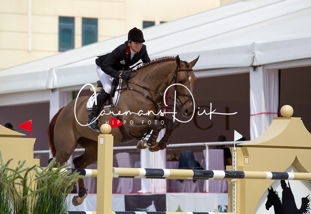 Hughes Marion (IRL) - HHS Pinky <br /> Grand Prix CSI2*<br /> Global Champions Tour - Abu Dhabi 2012<br /> &copy; Hippo Foto - Cindy Voss