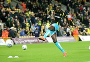 Burton Albion's Lucas Akins warms up during the EFL Sky Bet Championship match between Norwich City and Burton Albion at Carrow Road, Norwich, England on 12 September 2017. Photo by John Potts.