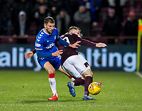 Football - 2019 / 2020 William Hill Scottish Cup - Quarter-Final: Heart of Midlothian vs. Rangers<br /> <br /> Borna Barisic of Rangers vies with Conor Washington of Hearts, at Tynecastle Park, Edinburgh.<br /> <br /> COLORSPORT/BRUCE WHITE