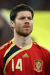 11.03.2010, Madrid, Spanien, ESP, Nationalmannschaft Spanien, Portraits im Bild Xabi Alonso, Nationalspieler Spanien, Bild aufgenommen am 28.03.2009, EXPA Pictures © 2010, PhotoCredit: EXPA/ Alterphotos/ Alvaro Hernandez / for Slovenia SPORTIDA PHOTO AGENCY.