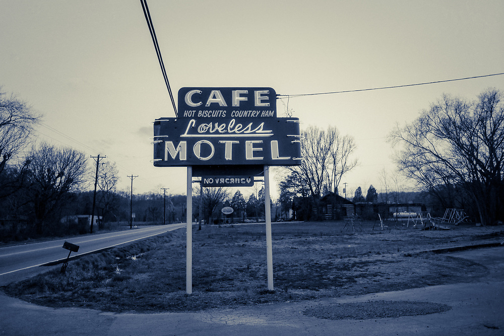Cafe Loveless sign in Nashville, Tennessee  (1988)