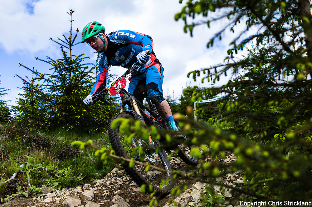 Glentress, Peebles, Scotland, UK. 31st May 2015. Greg Callaghan on the final stage at The Enduro World Series Round 3 taking place on the iconic 7Stanes trails during Tweedlove Festival.