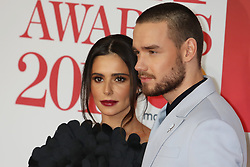 Cheryl and Liam Payne are seen arriving at the 2018 Brit Awards at the O2 in London.<br />