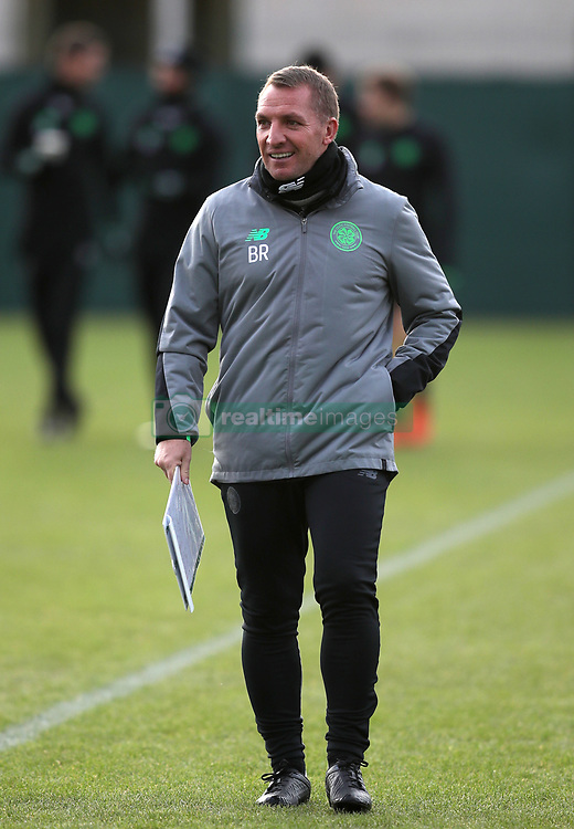 Celtic manager Brendan Rodgers during the training session at Lennoxtown, Glasgow.