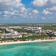 Aerial view. Riviera Maya. Quintana Roo. Mexico.