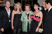 John Guerrasio, Douglas Henshall, Sonia Friedman, Lady Antonia Fraser, Kristin Scott Thomas, Alan Rickson; Ben Miles, Comedy Theatre First night party for Betrayal by Harold Pinter. National Gallery Cafe. Trafalgar Sq. London. <br /> <br />  , -DO NOT ARCHIVE-© Copyright Photograph by Dafydd Jones. 248 Clapham Rd. London SW9 0PZ. Tel 0207 820 0771. www.dafjones.com.ohn Guerrasio, Douglas Henshall, Sonia Friedman, Lady Antonia Fraser, Kristin Scott Thomas, director Alan Rickson and Ben Miles,