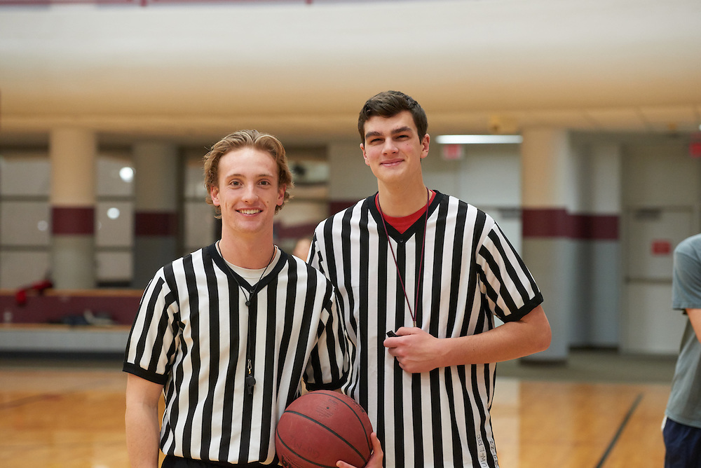 Activity; Basketball; Intramural Sports; Playing; Buildings; Recreational Eagle Center Rec; Location; Inside; Objects; Logo; People; Student Students; Woman Women; Man Men; Type of Photography; Candid; UWL UW-L UW-La Crosse University of Wisconsin-La Crosse; Winter; February; referee