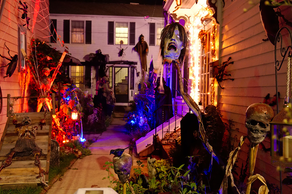 USA, MA, Salem, 29 October 2017. Halloween celebration in Salem.