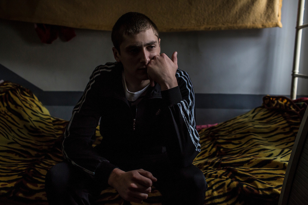 YEKATERINBURG, RUSSIA - OCTOBER 16: Vladimir, a 20-year-old from Moscow who used heroin, meth, and other drugs that he obtained from his brother, is in his second attempt at treatment for drug addiction at City Without Drugs on October 16, 2013 in Yekaterinburg, Russia. City Without Drugs is a well-known narcotics treatment program in Russia founded by Yevgeny Roizman, who was elected mayor of Yekaterinburg in September 2013. (Photo by Brendan Hoffman/Getty Images) *** Local Caption ***