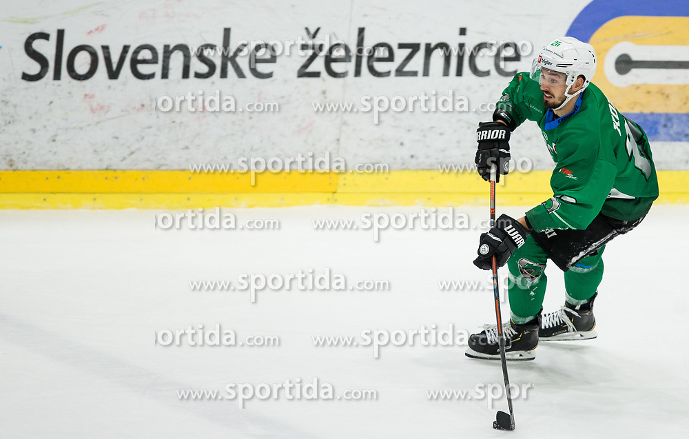 Gregor Koblar of SZ Olimpija during ice hockey match between HK SZ Olimpija and WSV Sterzing Broncos Weihenstephan (ITA) in Round #12 of AHL - Alps Hockey League 2018/19, on October 30, 2018, in Hala Tivoli, Ljubljana, Slovenia. Photo by Vid Ponikvar / Sportida
