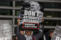London, UK. 5 November, 2019. Rapper M.I.A. performs in front of supporters of the Don't Extradite Assange Campaign assembled outside the Home Office to protest against the extradition of Wikileaks whistleblower Julian Assange to the United States. Speakers at the event included Assange's father John Shipton and fashion designer Vivienne Westwood.