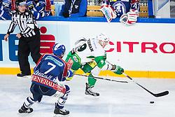 14.11.2012, Arena Zagreb, Zagreb, CRO, EBEL, KHL Medvescak Zagreb vs HDD Telemach Olimpija Ljubljana, 20. Runde, in picture Scott Freeman (HDD Telemach Olimpija, #9) and Adam Naglich (KHL Medvescak Zagreb, #7) during the Erste Bank Icehockey League 20th Round match between KHL Medvescak Zagreb and HDD Telemach Olimpija Ljubljana at the Arena Zagreb, Zagreb, Croatia on 2012/11/14. (Photo By Matic Klansek Velej / Sportida)