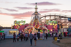 United States, Washington, Puyallup, amusement park at annual Puyallup Fair