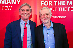 Pictured: Jeremy Corbyn and Richard Leonard <br /> <br /> Jeremy Corbyn and Richard Leonard joined the Scottish Labour faithful tonight at a rally in at the Shottstown Miners Welfare Halls in Penicuik.<br /> <br /> They were joined by Labour MPs Ian Lavery and Danielle Rowley