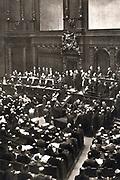 Von Bulow's last speech to the Reichstag, 16 June 1909. Bernhard Heinrich Karl Martin von Bulow (1849-1929) German Foreign Secretary 1897-1909. Responsible for Weltpolitik - colonial expansion. Reichschancellor 1900-1909.