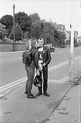Punk Couple kiss, Wycombe, UK, 1980s.