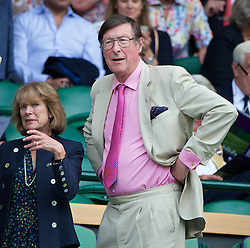 LONDON, ENGLAND - Saturday, July 5, 2014: Max Hastings in the royal box during the Ladies' Singles Final match on day twelve of the Wimbledon Lawn Tennis Championships at the All England Lawn Tennis and Croquet Club. (Pic by David Rawcliffe/Propaganda)