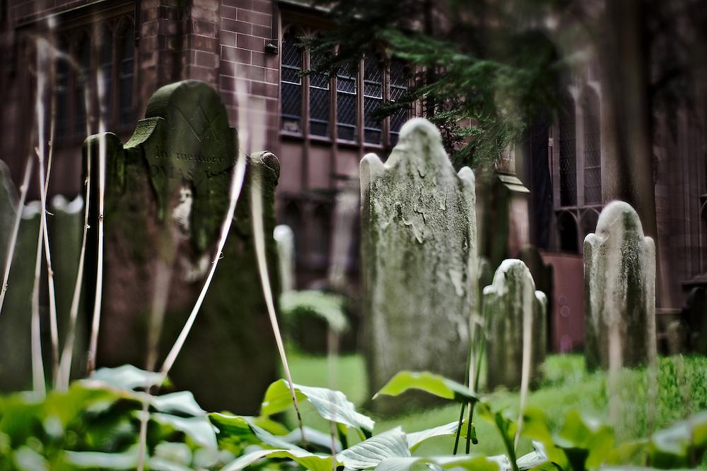 Trinity Church cemetery, lower Manhattan, New York, NY, US