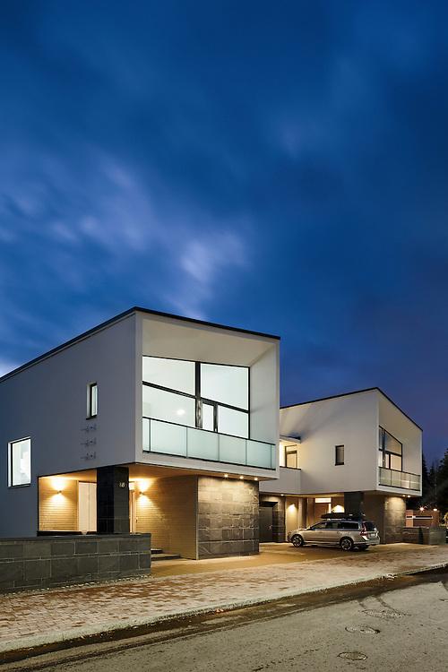 Jämerä-loft paritalo - semi-detached houses for Tampere Housing fair in Finland designed by J10 architects.