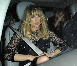 Models Suki Waterhouse and Cara Delevingne leaving the Claridges hotel in Mayfair, London, UK. 15/09/2014<br />BYLINE MUST READ : GOTCHAIMAGES.COM<br /><br />Copyright by © Gotcha Images Ltd. All rights reserved.<br />Usage of this image is conditional upon the acceptance <br />of Gotcha Images Ltd, terms and conditions available at<br />www.gotchaimages.com